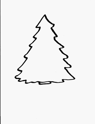 evergreen tree coloring pages - photo#45