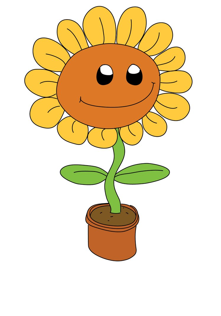 cartoon sunflower pictures clipartsco