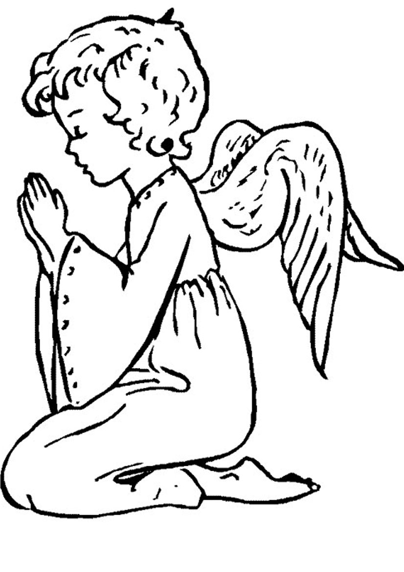 praying angel pictures