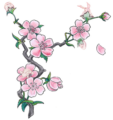 Cartoon Cherry Blossom Tree - Cliparts.co