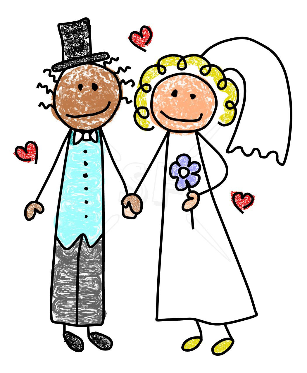 Bride And Groom Clip Art - Cliparts.co