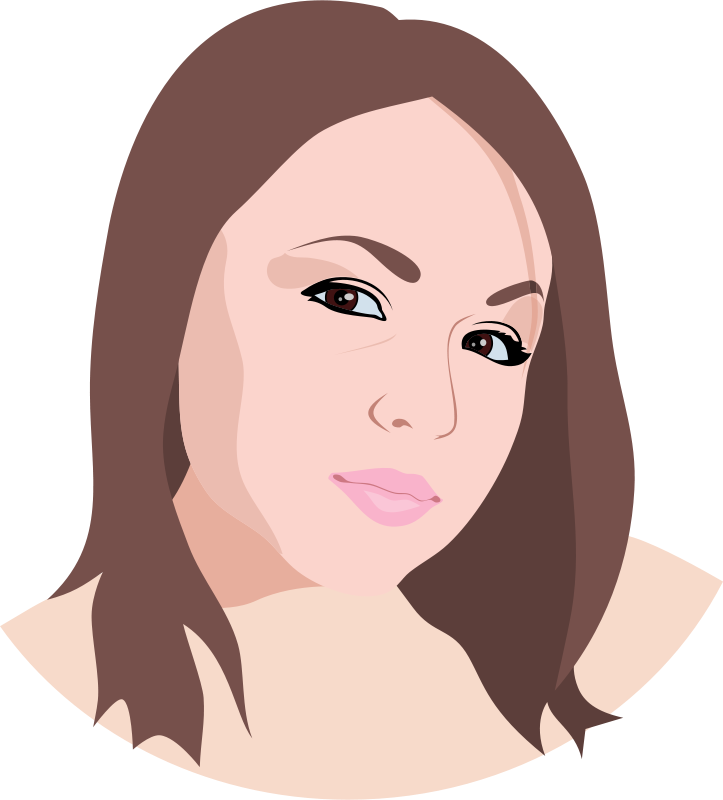Woman Face Line Drawing Png : Free women clip art cliparts