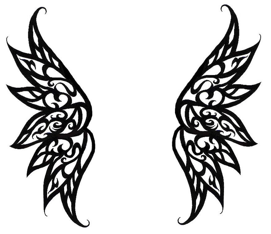 Simple Angel Wings Tattoo Designs