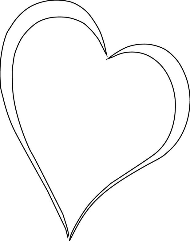 Line Drawing Heart Shape : Free heart images cliparts