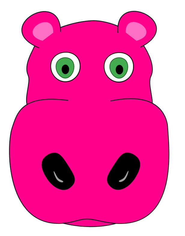 free clip art hippo cartoon - photo #50