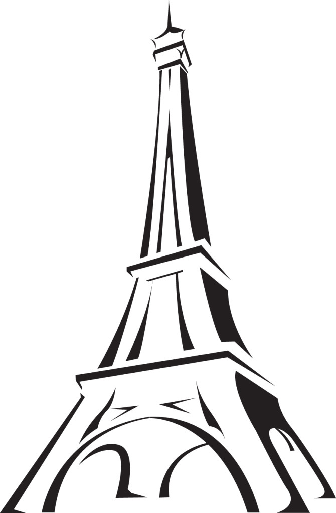 easy eiffel tower doodle - photo #21