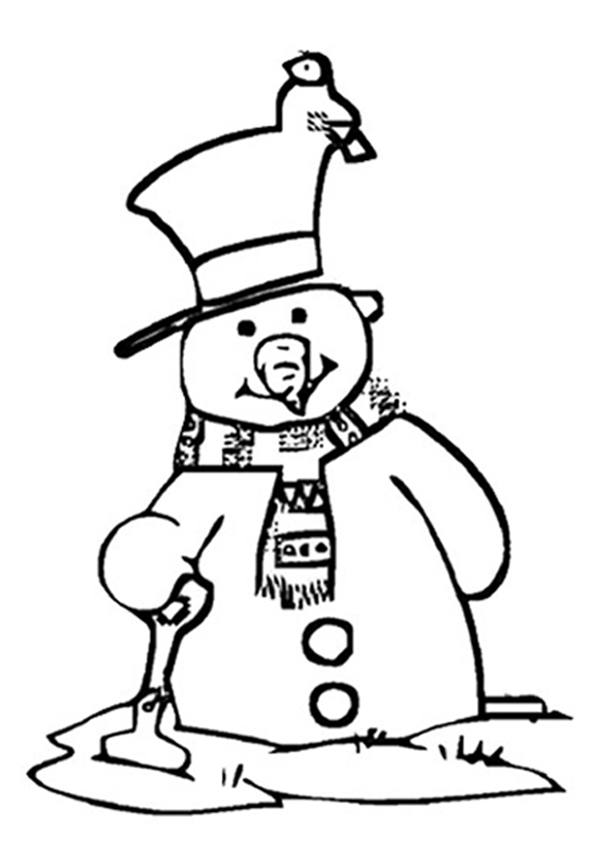 childrens coloring pages snowman free - photo#8