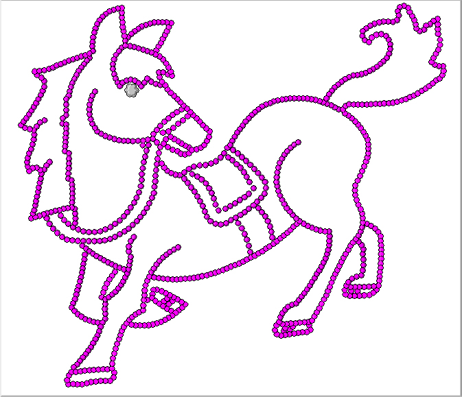 Cute baby horse drawing