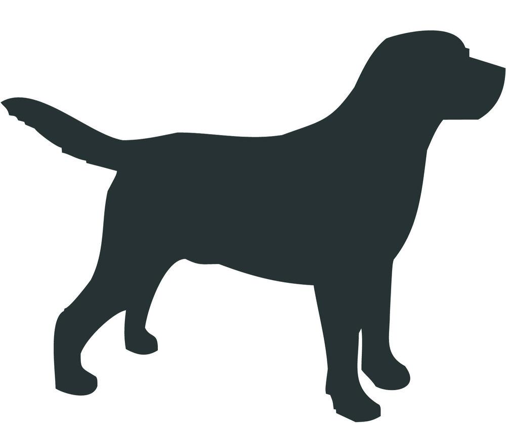 labrador retriever dog decal sticker car van vinyl silhouette