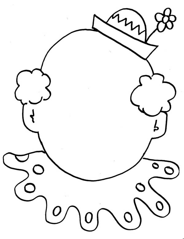 Kid Body Outline Coloring Page