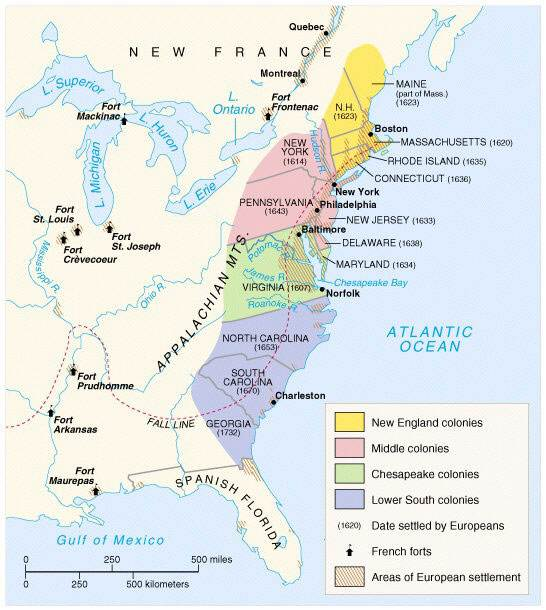 a comparison of two settlements new england and the chesapeake