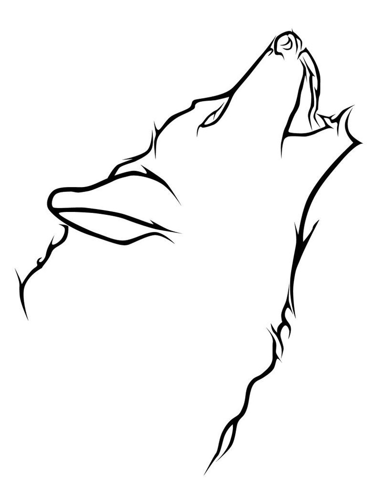 Simple Wolf Drawings - Cliparts.co