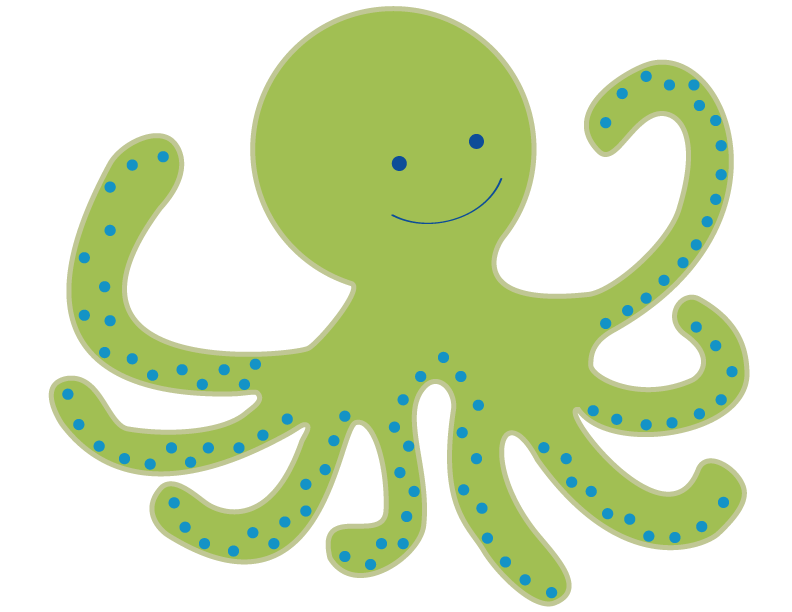 Blue Octopus Cartoon - Cliparts.co