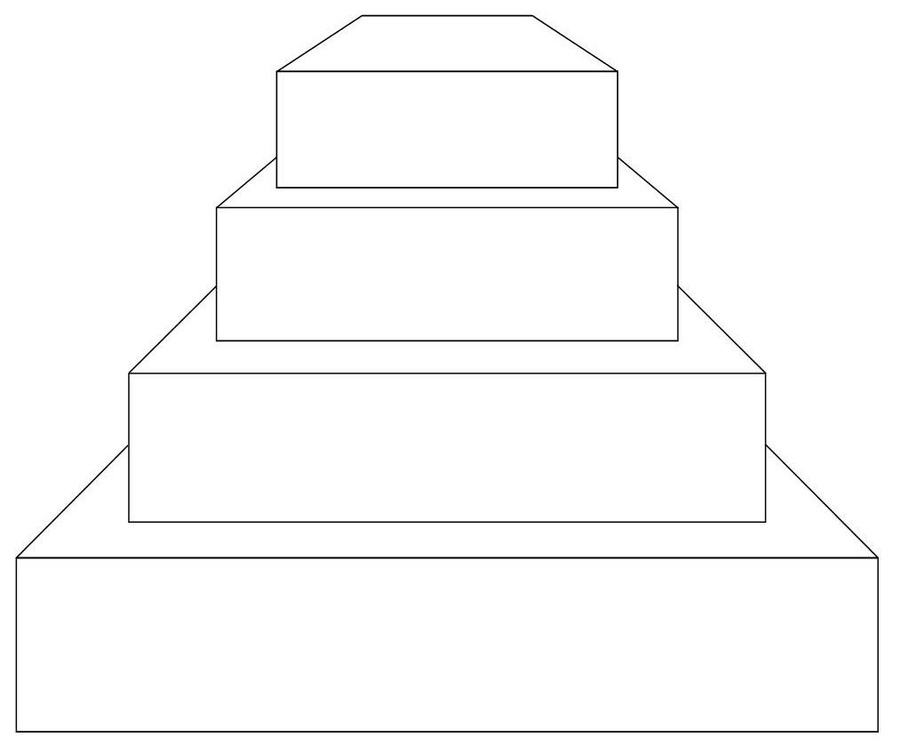 Cake Art Template : Birthday Cake Outline - Cliparts.co