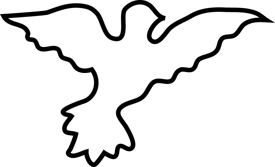 Outline Of Dove - Cliparts.co