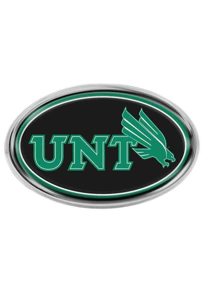 North Texas Mean Green Domed Oval Car Emblem