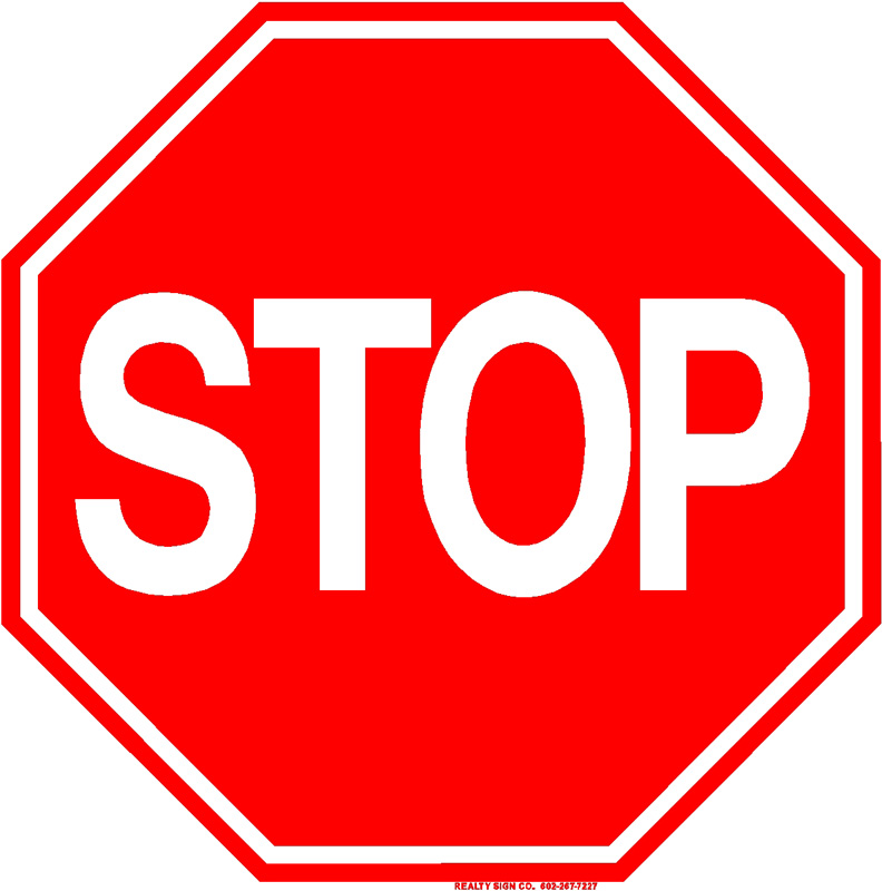 Crafty image for printable stop signs