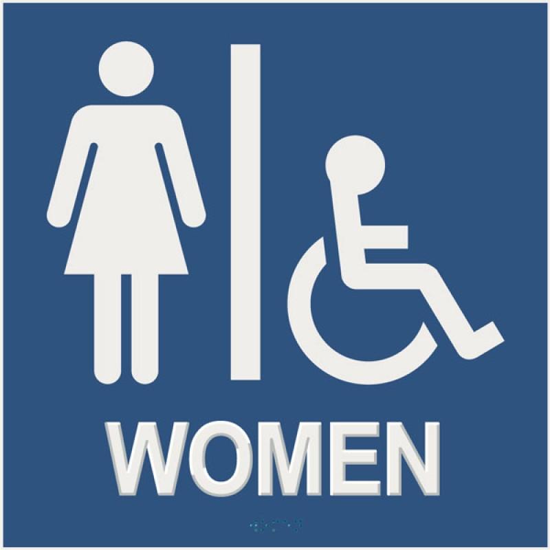 Ladies restroom sign for Women s bathroom sign