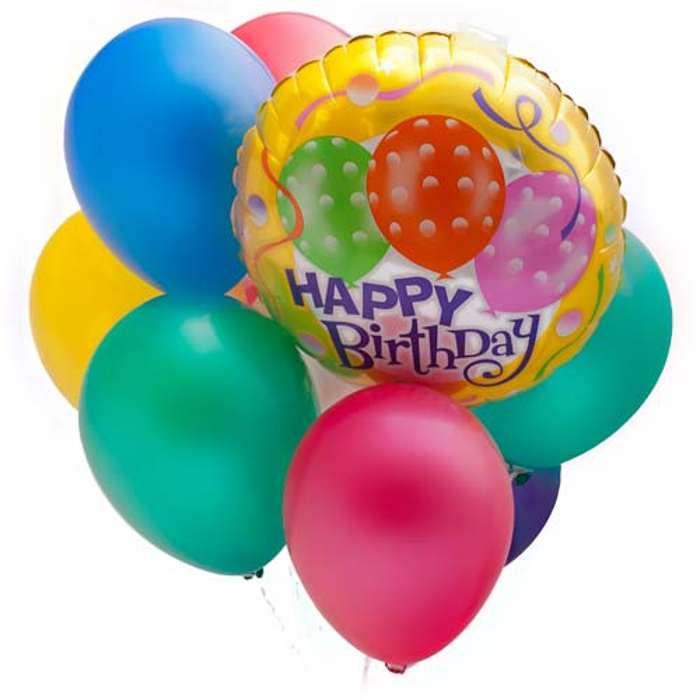Happy birthday balloons and cake | Free Reference Images