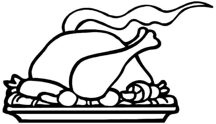thanksgiving food printable coloring pages sheets - Thanksgiving Food Coloring Pages