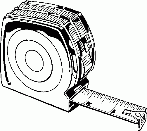 Drawing Lines With Measurements : Measuring tape black and white clipart