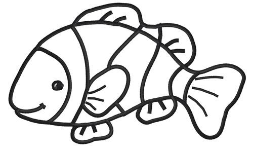 Clown Fish Clip Art Black And White | Clipart Panda - Free Clipart ...