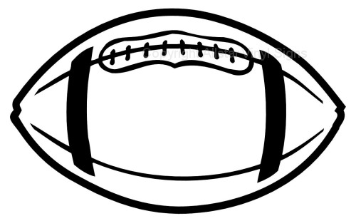 Line Drawing Football : Football line art cliparts