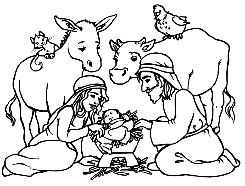 religious christmas coloring page 22 free angel - Coloring Pages Christmas Jesus