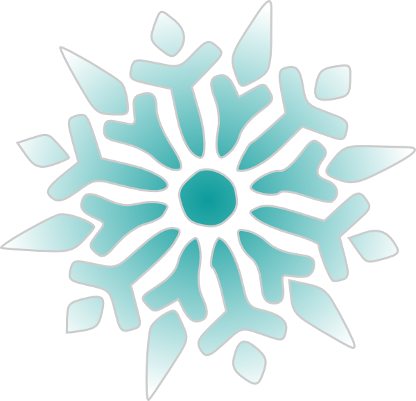 Snowflake Ice Blue clip art - vector clip art online, royalty free ...