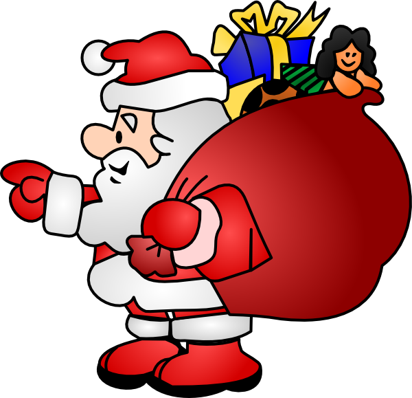 Santa Claus Clip Art Black And White | Clipart Panda - Free ...