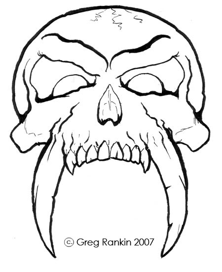 easy skull drawings clipartsco