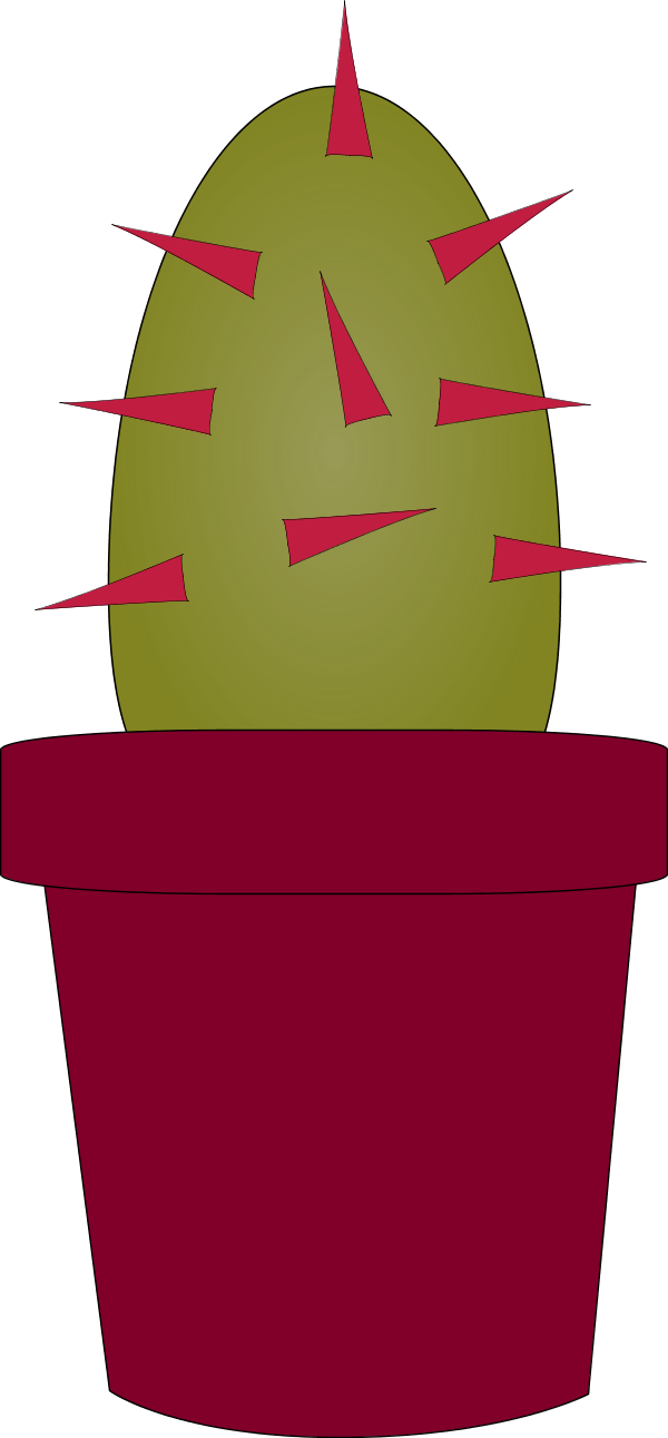 Cactus Plant Cartoon - vector Clip Art