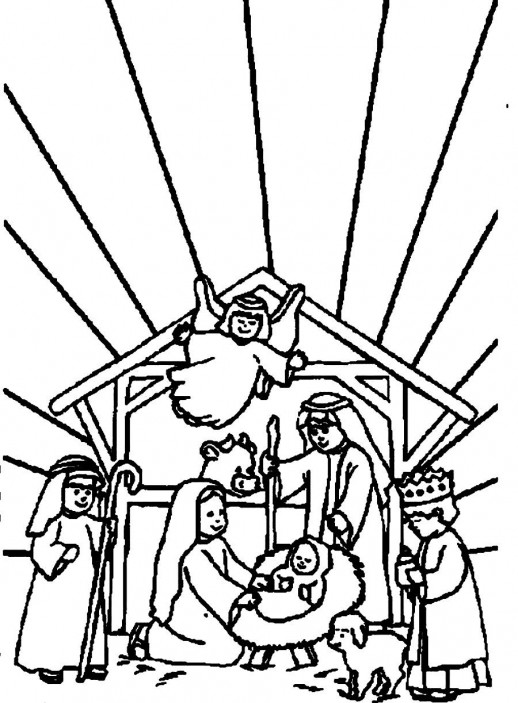 mother mary welcoming the baby jesus christmas coloring pages mother mary welcoming the baby jesus christmas coloring pages