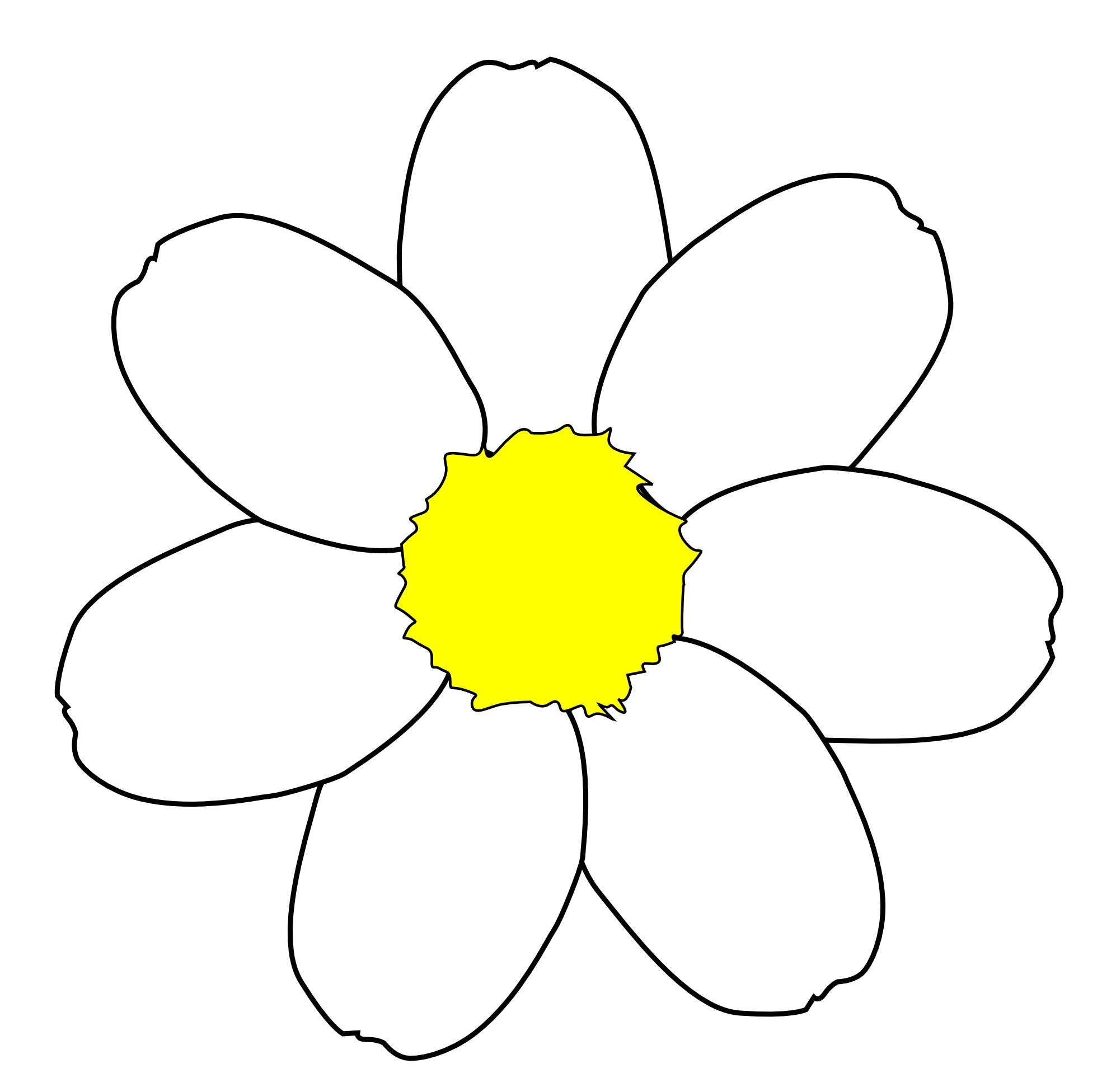 Daisy Flower Outline - Cliparts.co
