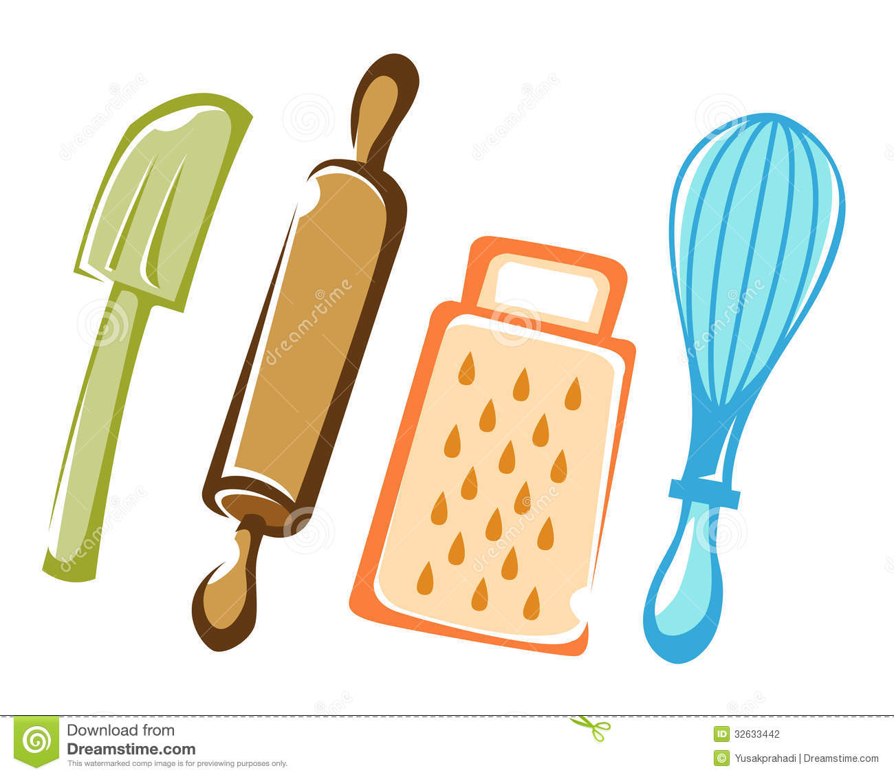 Cooking Tools And Ingredients Clipart - Free Clip Art Images