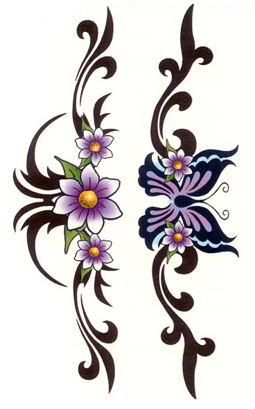 temporary tattoos tribal flower butterfly armband free download. Black Bedroom Furniture Sets. Home Design Ideas