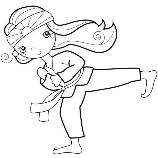 karate coloring pages free - spongebob karate coloring pictures