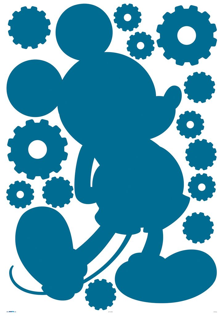 Mickey Mouse Clubhouse Silhouette maxi sticker by Kids @ Home ...
