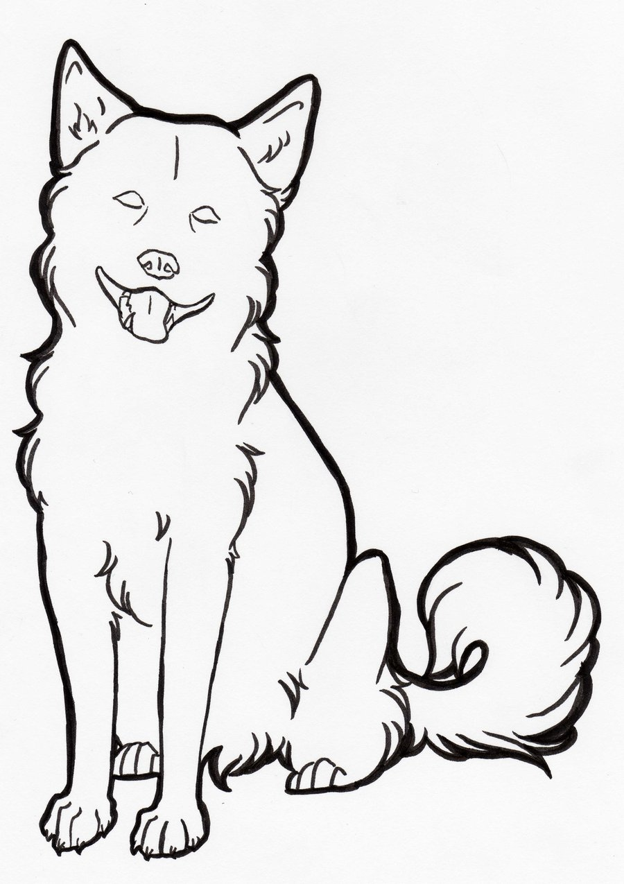Line Drawing From Photo : Line drawing dogs cliparts