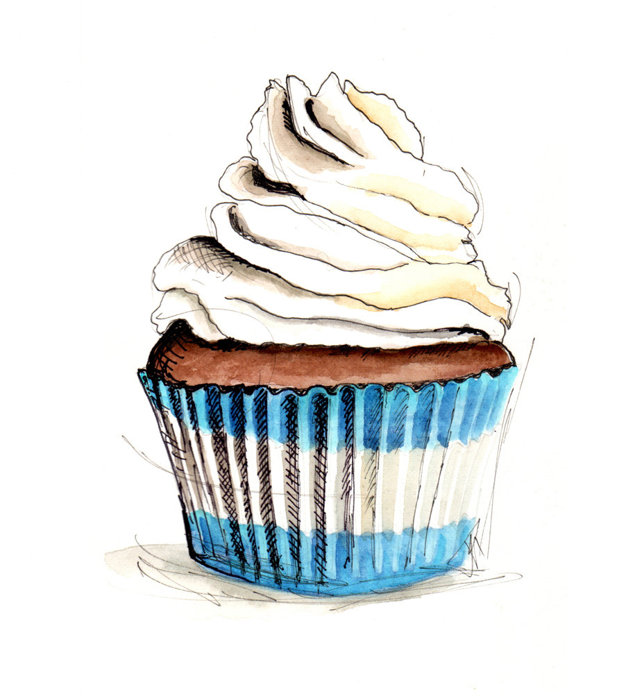 Artist Cake Images : Cupcake Illustrations - Cliparts.co