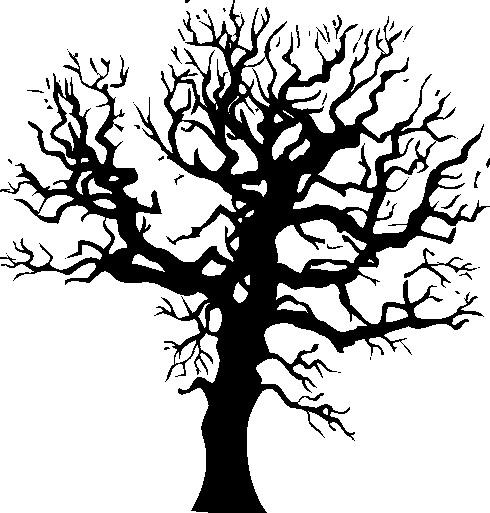 Line Art Of Tree : Line art tree cliparts