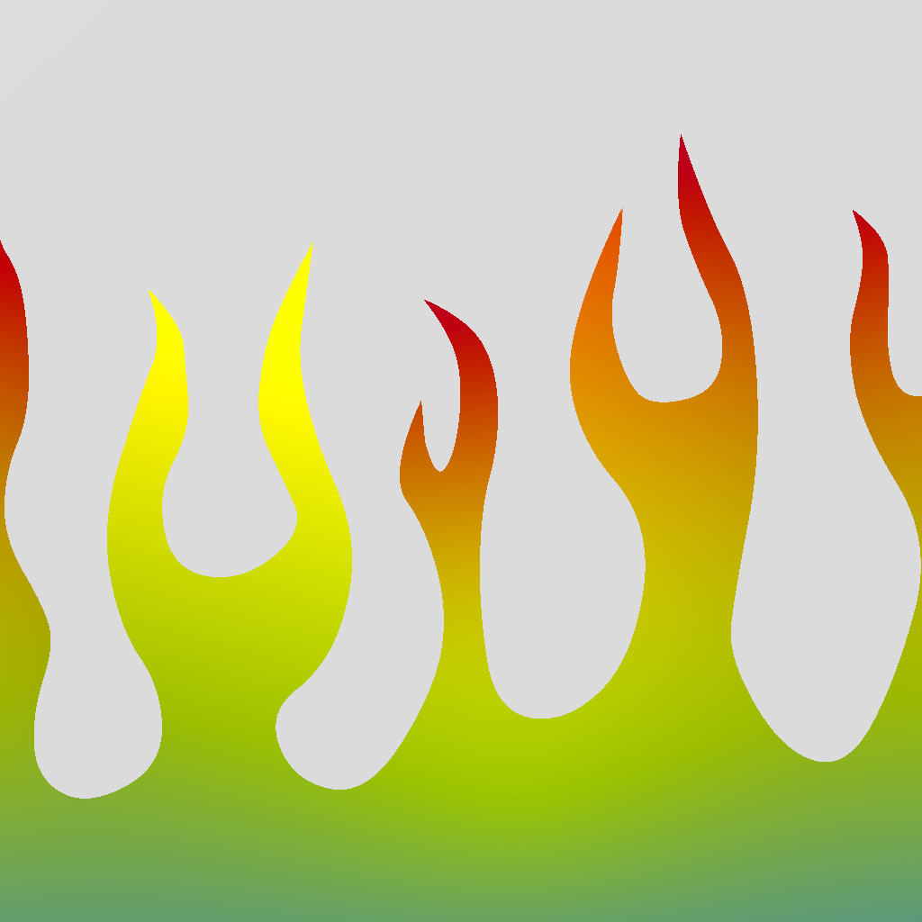 Simple Flames Border Transparent Background - Cliparts.co