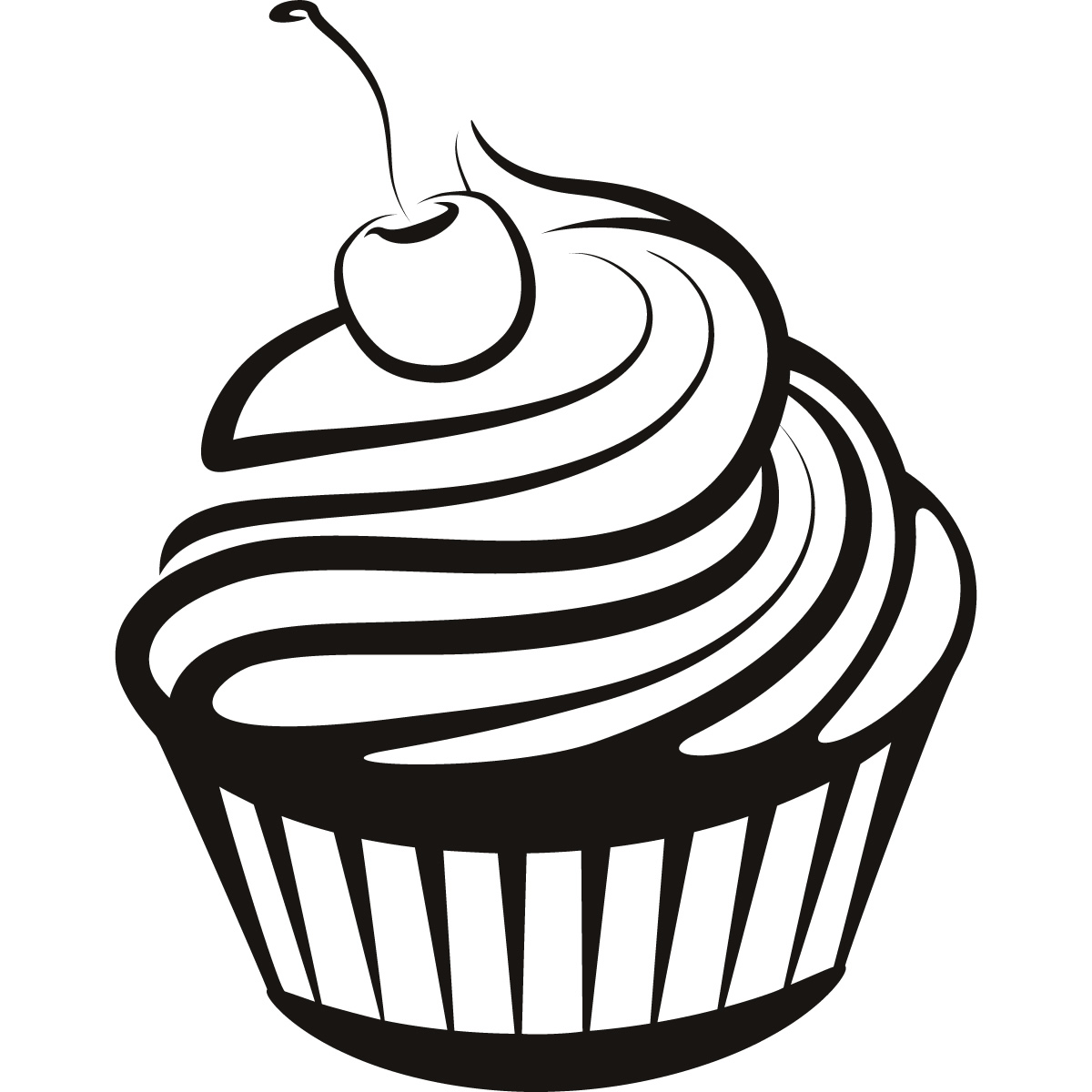 Cupcake Line Drawing Clipart Best Cliparts Co