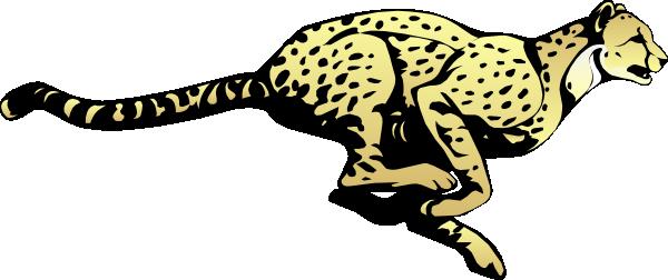Running Cheetah clip art - vector clip art online, royalty free ...