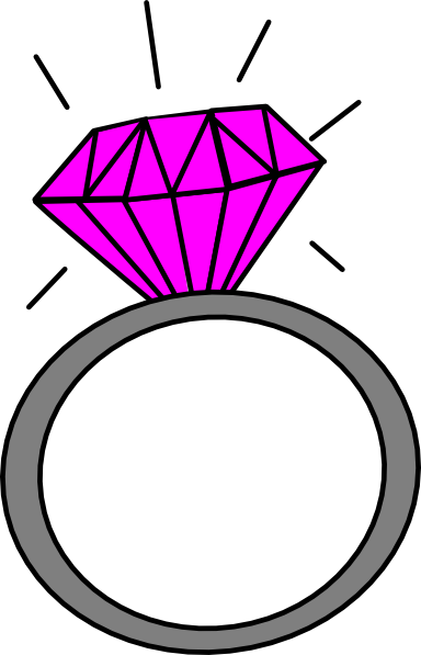 Pink Diamond Ring Clipart | Clipart Panda - Free Clipart Images