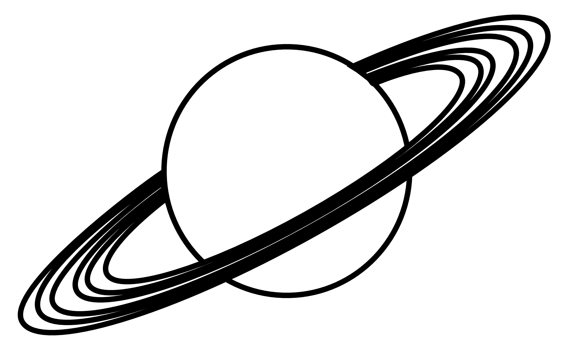 planets clipart black and white - photo #17