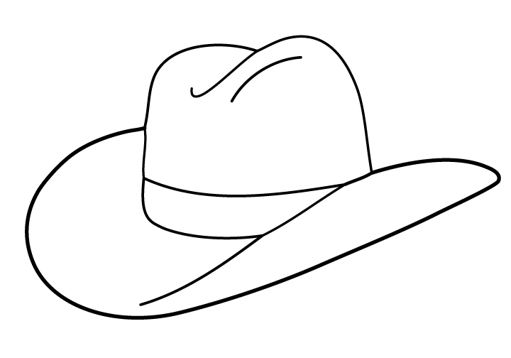 Cowboy Hat Clip Art Black And White | Clipart Panda - Free Clipart ...