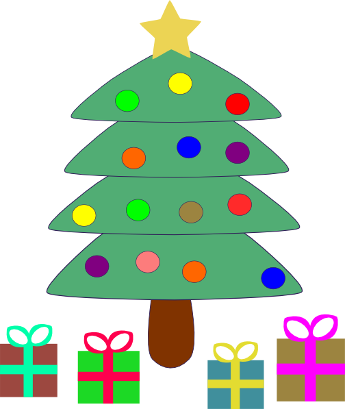 Christmas Tree Gifts clip art Free Vector / 4Vector
