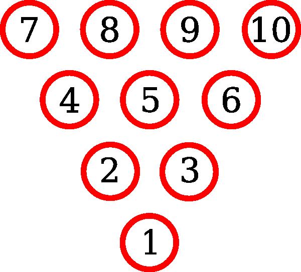 Bowling Pins Diagram clip art - vector clip art online, royalty ...