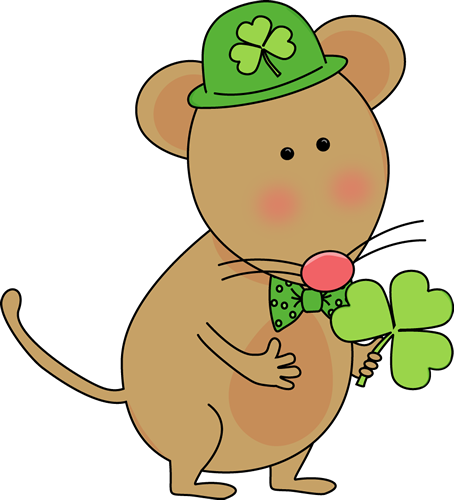 Saint Patrick's Day Mouse Clip Art - Saint Patrick's Day Mouse Image